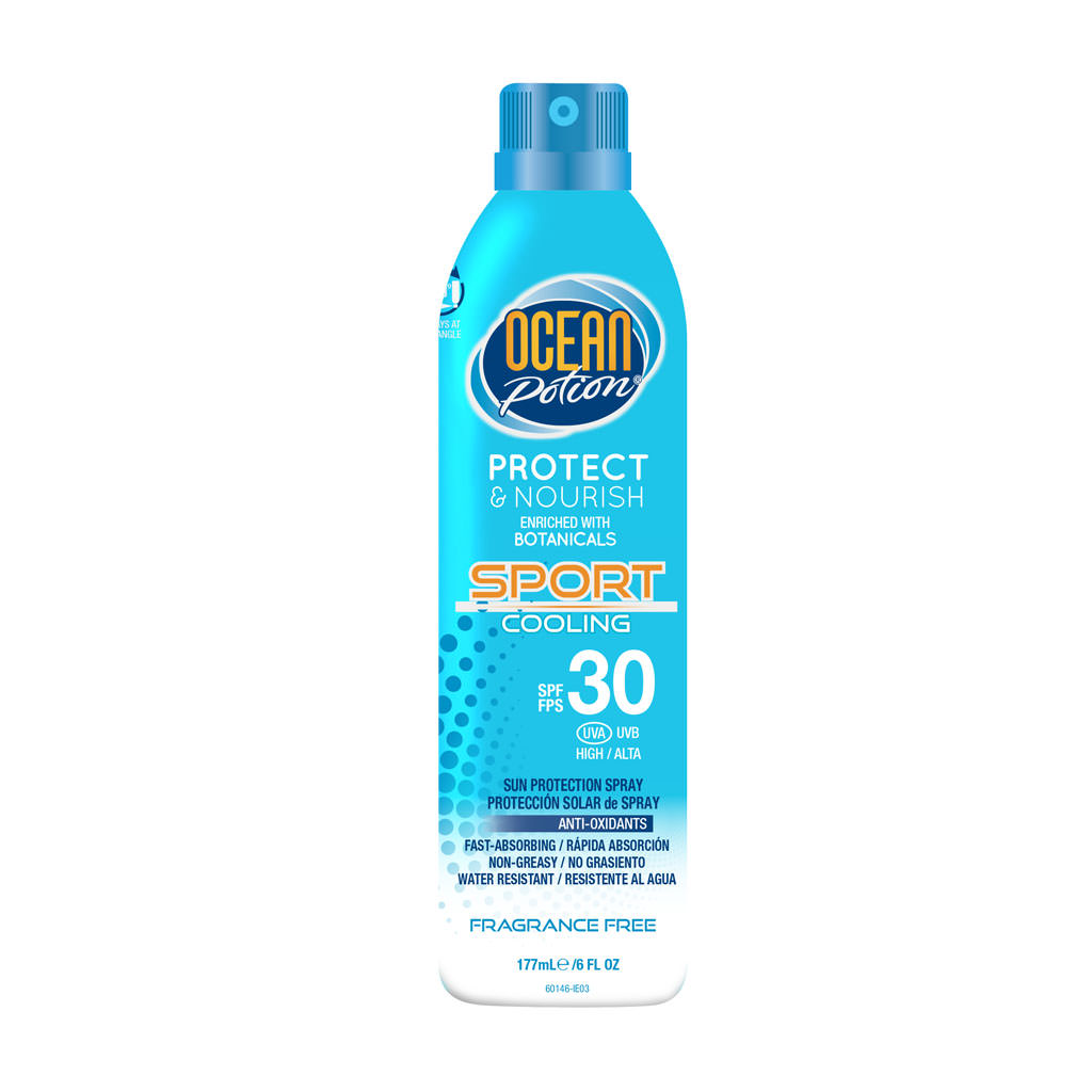 Ocean Potion Protect and Nourish Sport SPF 30 Sun Protection Continuous Spray Mist 12/6 oz