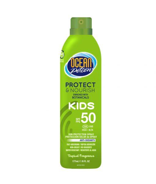 Ocean Potion Protect & Nourish Kids SPF 50 Sun Protection Continuous Spray Mist 6 oz