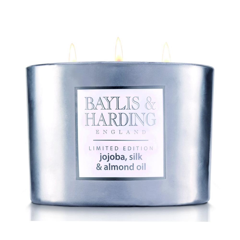 Baylis & Harding Jojoba, Silk & Almond Oil 3 Wick Candle