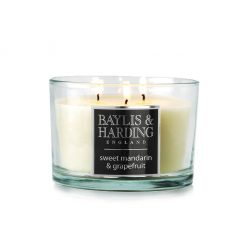 Baylis & Harding Sweet Mandarin & Grapefruit 3 Wick Candle