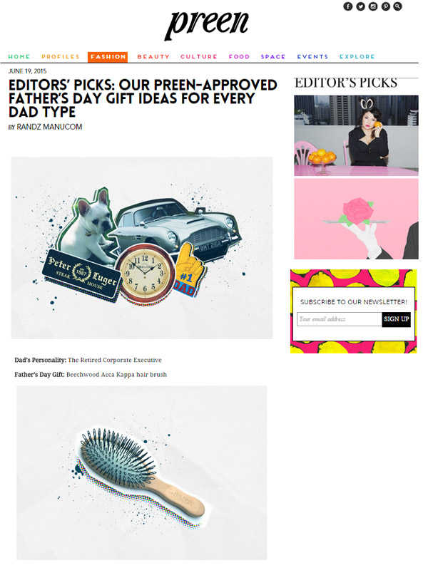 Preen Editors Picks Our Preen Approved Father S Day