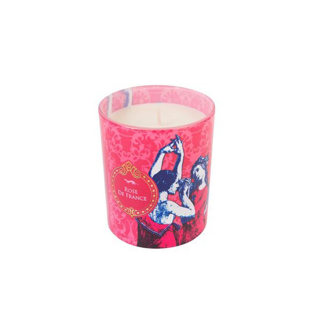 Historiae Rose de France Pop Art Bougie Parfumée