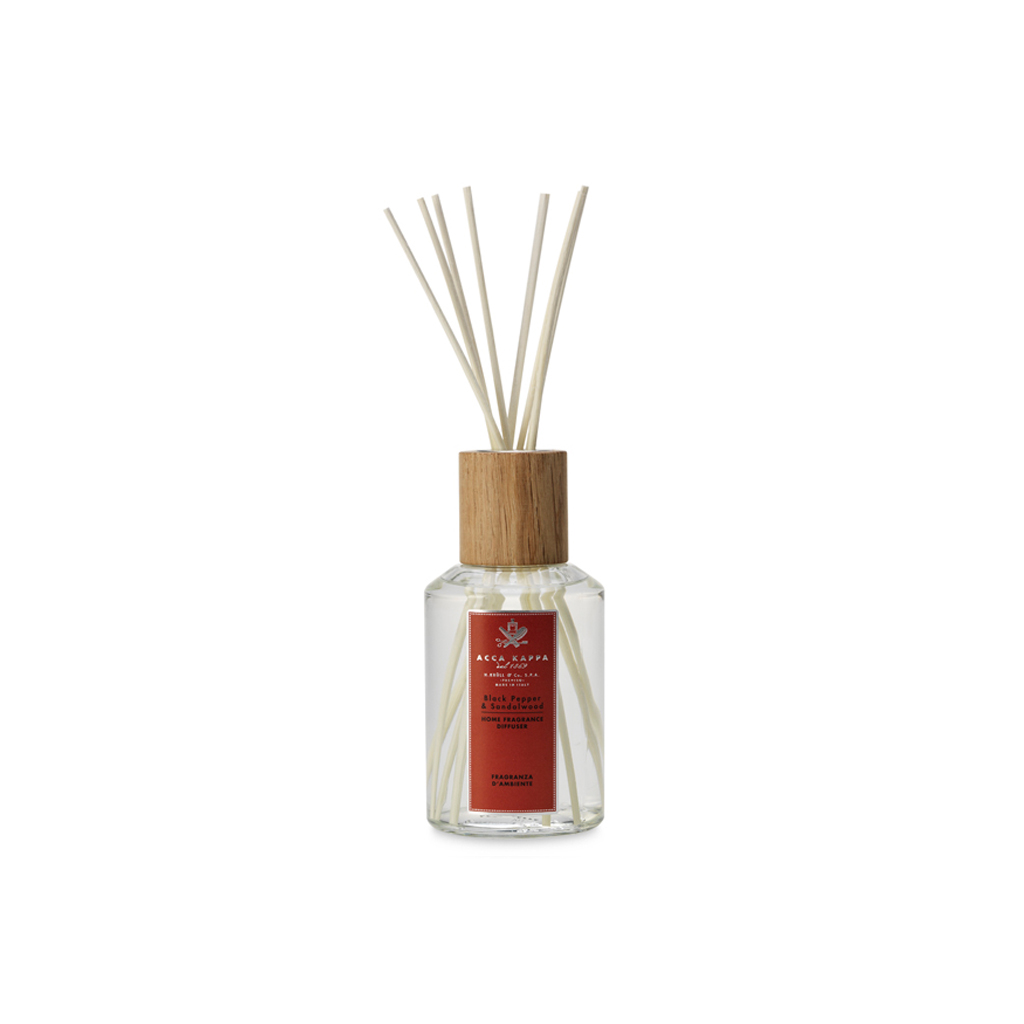 Acca Kappa Black Pepper & Sandalwood Home Diffuser With Sticks