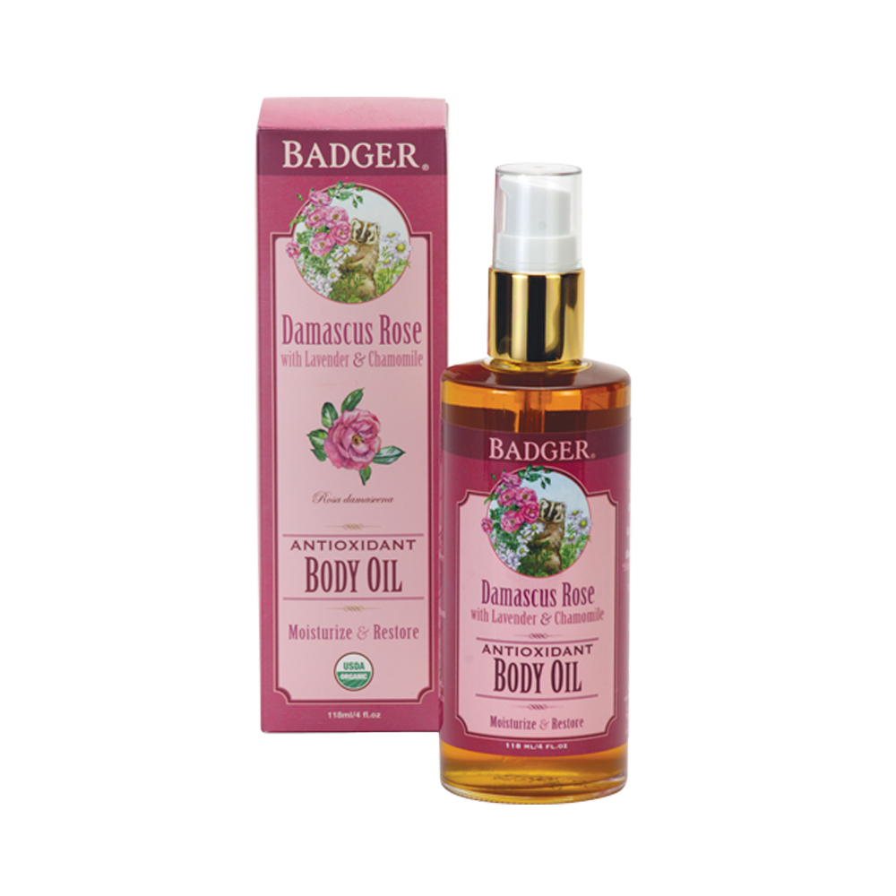 Badger Damascus Rose Body Oil Rustan S The Beauty Source