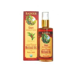 Badger Deep Tissue Massage Oil Ginger