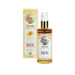 Badger Natural Organic Unscented Body Oil