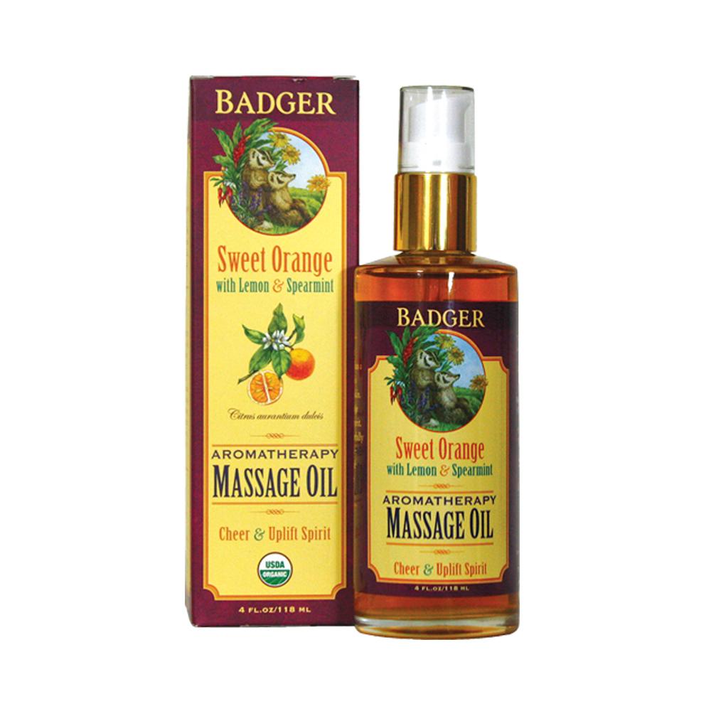 Badger Sweet Orange Massage Oil