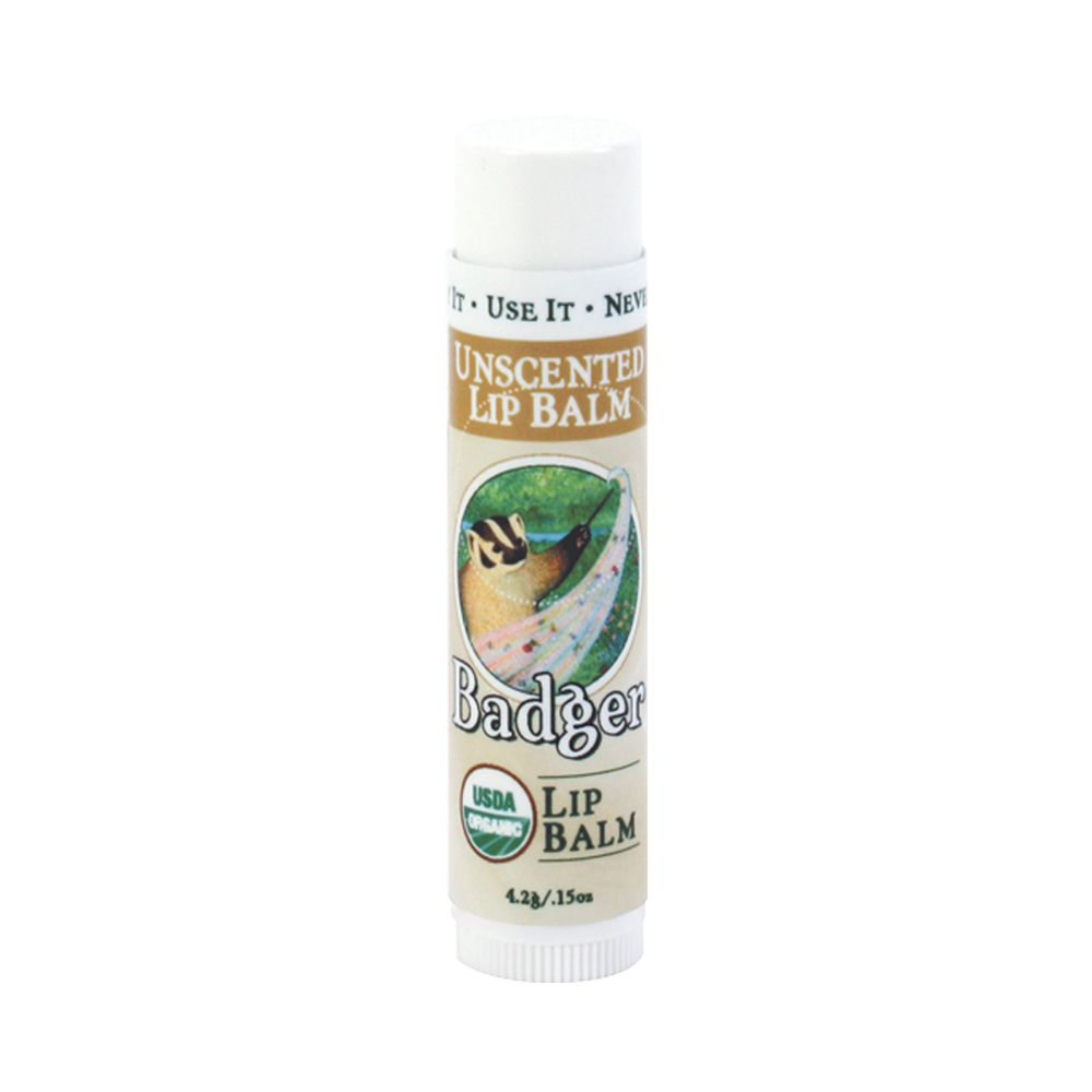 Badger Unscented Classic Lip Balm Stick