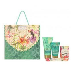 Heathcote & Ivory Rainforest Travel Treats (1 x 50ml Hand Cream, 1 x 30ml Cleansing Shower Cream, 1 x 40g Soap, 1 x Emery Board)