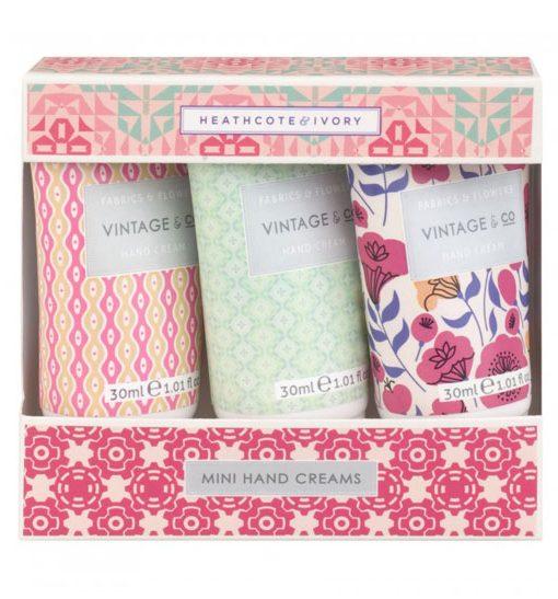 Vintage & Co. Fabric & Flowers Mini Hand Creams (3 x 30ml)