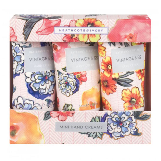 Vintage & Co. Patterns & Petals Mini Hand Creams (3 x 30ml)