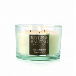 Baylis & Harding Black Pepper & Ginseng 3 Wick Candle