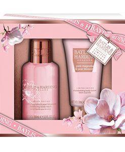 Baylis & Harding Pink Magnolia & Pear Blossom 2 pc Set