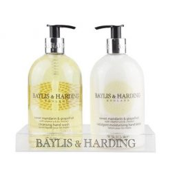 Baylis &Harding Sweet Mandarin and Grapefruit 2 Bottle Set in An Acrylic Rack