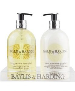 Baylis & Harding Sweet Mandarin & Grapefruit 2 Bottle Set in Acrylic
