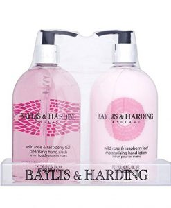 Baylis & Harding Wild Rose & Raspberry Leaf 2 Bottle in Acrylic Rack