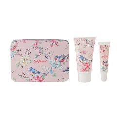 Cath Kidston Blossom Birds White Clover & Matcha Tea Hand & Lip Set in Tin