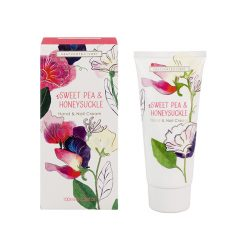 Heathcote & Ivory Sweet Pea & Honeysuckle Luxury Hand & Nail Cream Tube