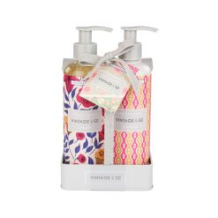 Heathcote & Ivory Vintage & Co. Fabric & Flowers Hand Wash and Lotion set