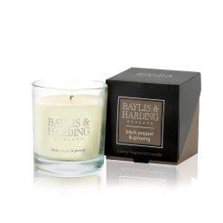 Baylis & Harding Black Pepper & Ginseng Single Wick Candle