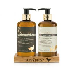 Baylis & Harding Fuzzy Duck Black Pepper & Sage 2 Bottle Set in Rack