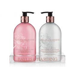 Baylis & Harding Pink Magnolia & Pear Blossom 2 Bottle Set in a Rack