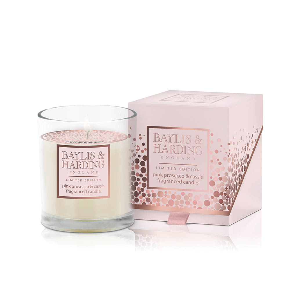 Pink Prosecco & Cassis Single Wick Candle