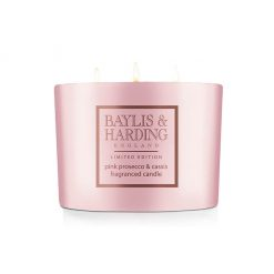 Baylis & Harding Pink Prosecco & Cassis Triple Wick Candle