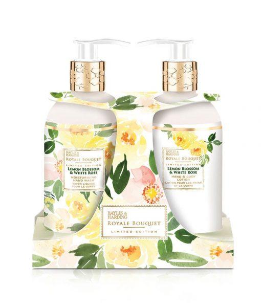 Royale Bouquet Lemon Blossom & White Rose 2 Bottle Set in Rack