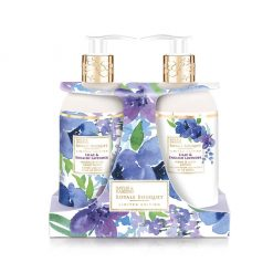 Baylis & Harding Royale Bouquet Lilac & English Lavender 2 Bottle Set in Rack