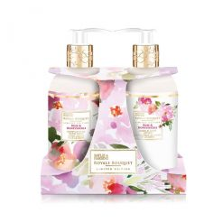 Baylis & Harding Royale Bouquet Rose & Honeysuckle 2 Bottle Set in Rack