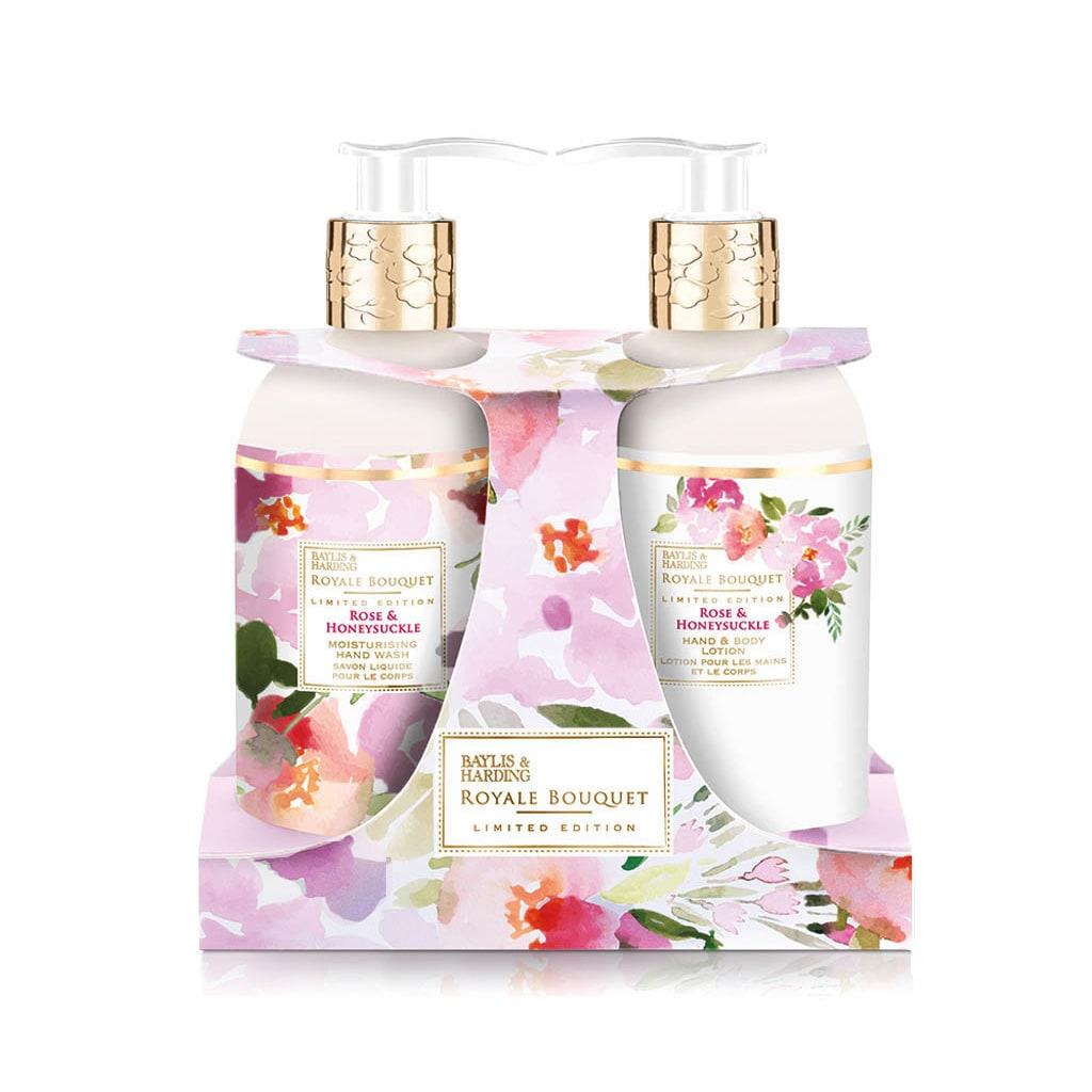 Royale Bouquet Rose & Honeysuckle 2 Bottle Set in Rack
