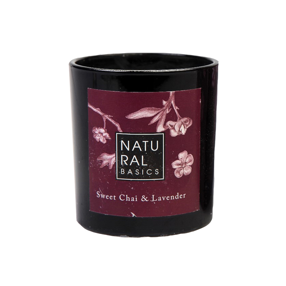 Natural Basics Sweet Chai & Lavender Scented Candle 20cl
