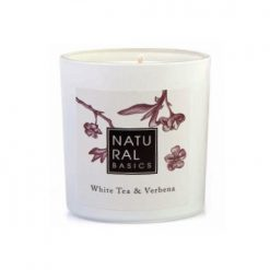 Elle Basic Natural Basics White Tea & Verbena Scented Candle 20cl