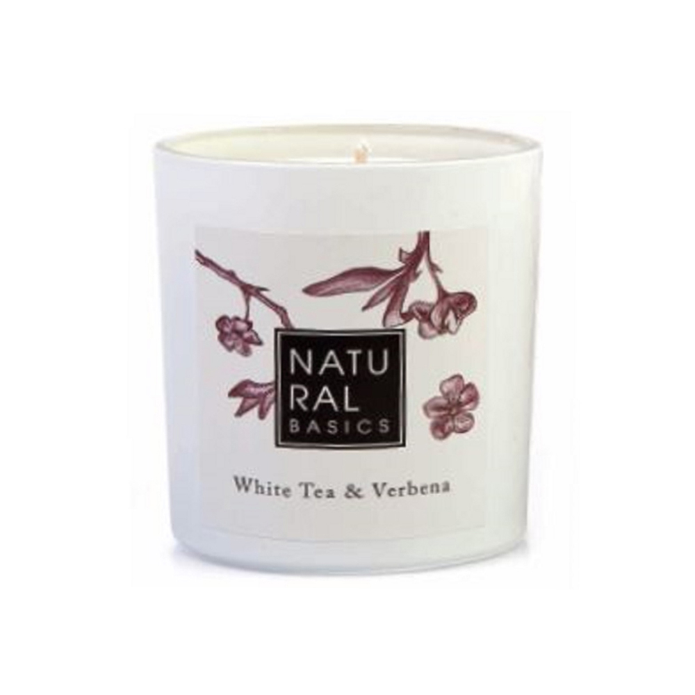 Natural Basics White Tea & Verbena Scented Candle 20cl
