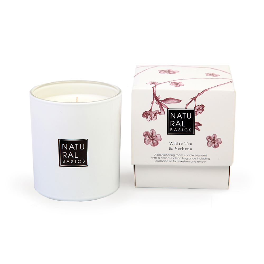 Natural Basics White Tea & Verbena Scented Candle 30cl
