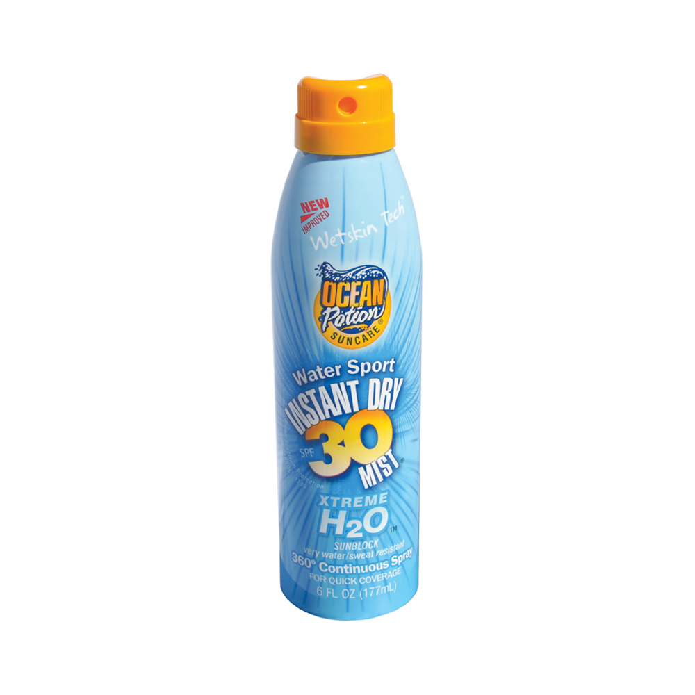 Ocean Potion H2O Water Sport SPF 30 Sun Protection Continuous Spray Mist 12/6 oz