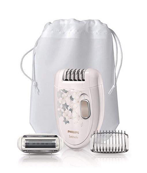 Satinelle Epilator Champagne and Silver Pattern