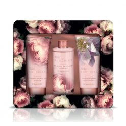 Baylis & Harding Boudoire Moonlight Peony 3 Piece Set in Tin