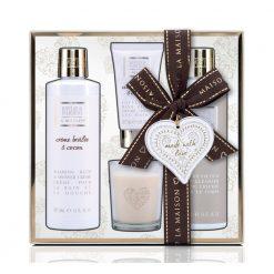 Baylis & Harding La Maison Creme Brulee & Cocoa Candle Set