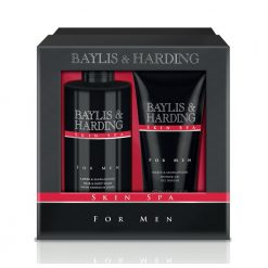 Baylis & Harding Mens Skin Spa Amber & Sandalwood 2 Piece Set