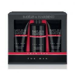Baylis & Harding Mens Skin Spa Amber & Sandalwood 3 Piece Set