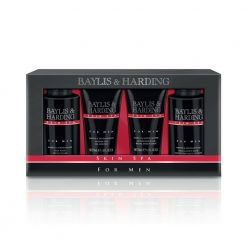 Baylis & Harding Mens Skin Spa Amber & Sandalwood 4 Piece Box Set