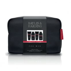 Baylis & Harding Mens Skin Spa Amber & Sandalwood Wash Bag Set