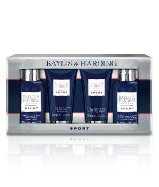 Baylis & Harding Mens Sport Citrus Lime & Mint 4 Piece Box Set