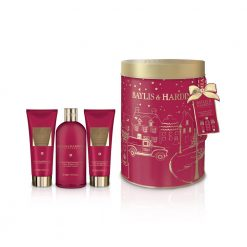 Baylis & Harding Midnight Fig & Pomegranate Round Tin Can Set