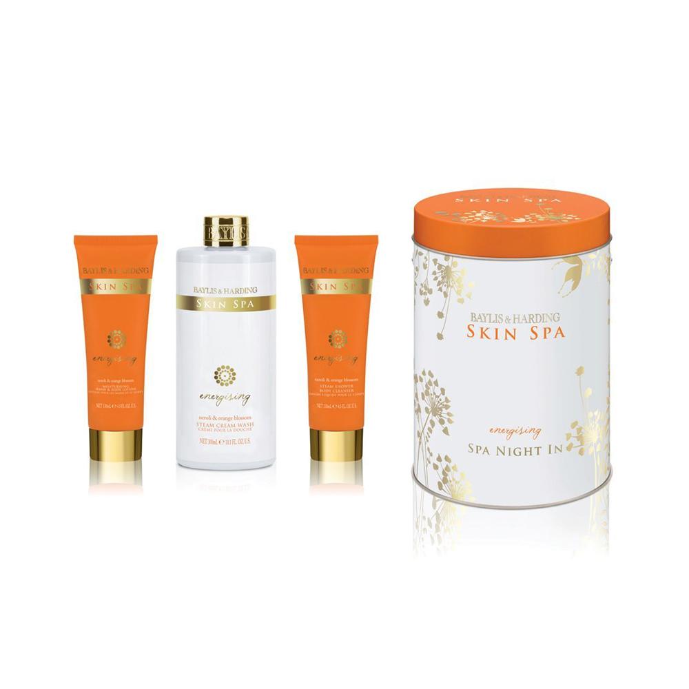 Skin Spa Energising Neroli & Orange Blossom Round Tin Can Set