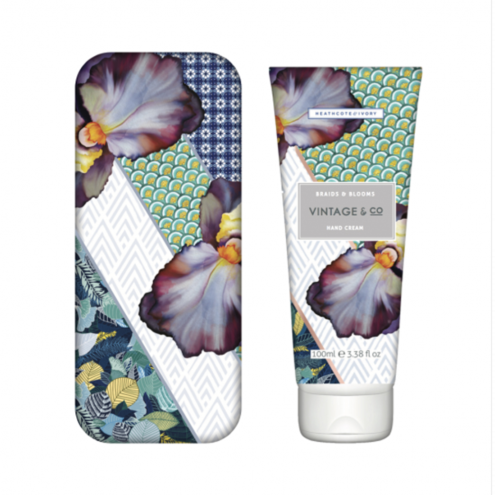 Vintage & Co. Braids & Blooms Hand Cream in Tin
