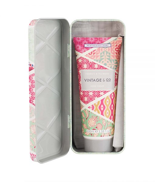 Vintage & Co. Fabric & Flowers Hand Cream in Tin
