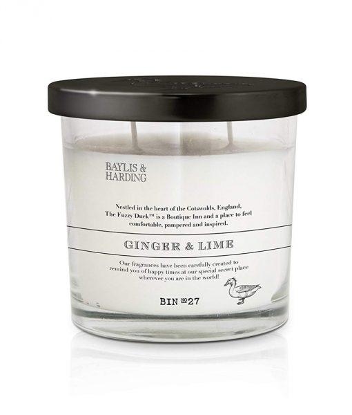 Fuzzy Duck Classic Ginger & Lime 2 Wick Candle